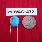 250V AC 8kV DC 4700pF Y1 Ceramic Disc Safety Capacitor